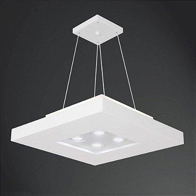 PLAFON Usina Design QUADRADO BORE 4522/60 Sala Estar Cozinhas Quartos 4 E27 04 PAR20 600X600X200