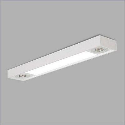 PLAFON Usina Design RETANGULAR TROPICAL 4015/150 Sala Estar Cozinhas FPAR 4 T8 120CM 02 PAR20 150X1500X120