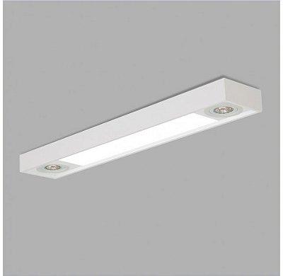 PLAFON Usina Design RETANGULAR TROPICAL SLIM 4705/65F Sala Estar Cozinhas Quartos 1 T8 LED 60 CM 75X650X85