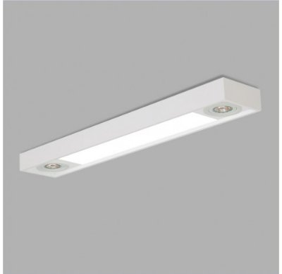 PLAFON Usina Design RetangularTROPICAL SLIM 4715/150F Sala Estar Cozinhas Quartos DC 4T8 LED 120CM 02 GU10 MR16 150X1500X85