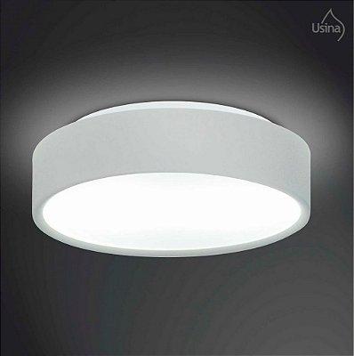 Plafon Usina Design Sobrepor Redondo  acrílico leitoso Branco Ø33 Clear Pequeno E-27 4050/33 Lavabos Quartos