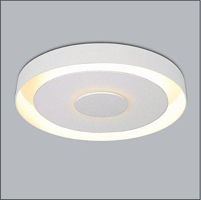 Plafon Usina Design Sobrepor Redondo Branco Metal Luz Indireta Ø35 Drones G9 291/38 Sala Estar Cozinhas