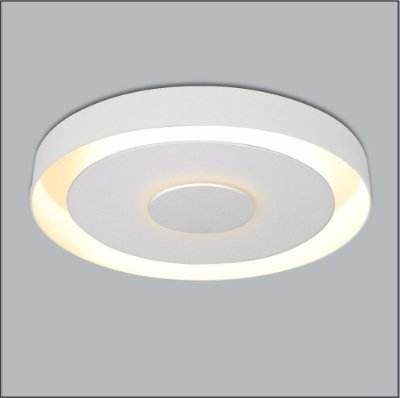 Plafon Usina Design Sobrepor Redondo Metal Branco Luz Indireta Ø50cm Drones G9 291/50 Sala Estar Cozinhas