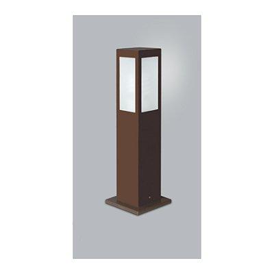 POSTE Usina Design QUADRADO JARDIM ALBERINO 5510/100 Amb. Externo 1 E27 115x115x1000