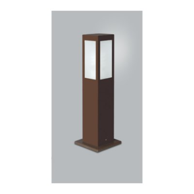 POSTE Usina Design QUADRADO JARDIM ALBERINO 5510/50 Amb. Externo 1 E27 115x115x500