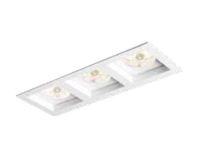 Spot Newline Iluminação Flat Triplo Embutir Retangular Alumínio Branco 17x8,5cm 3x GU10 AR70 IN65134BT Tetos e Gesso