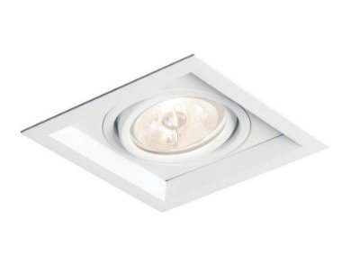 Spot Newline Recuado II Embutido Direcionável Alumínio 5,5x10,4cm  1x GU10/GZ10 LED IN51301BT Corredores e Salas