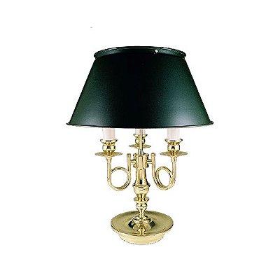 Abajur Golden Art Inglês Contemporâneo Vintage 3 Braços Curva Cúpula 110v 220v Bivolt 53cm Altura (H) E-27 M009 Cabeceira Cama Salas