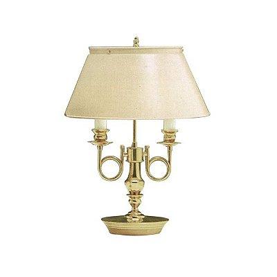 Abajur Golden Art Inglês Dourado Vintage 2 Braços Curva Cúpula Cone 110v 220v Bivolt 53cm Altura (H) E-27 M007 Mesas Salas