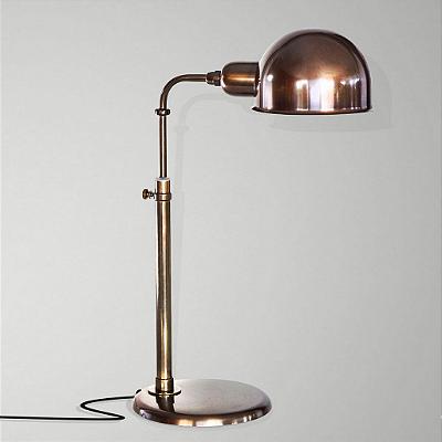 Abajur Golden Art Juddy Curva Regulável Metal Vintage 48x17cm 1x Lamp. E27 110v 220v Bivolt M204 Mesas Balcões