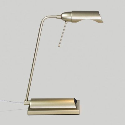 Abajur Golden Art Luminária Mesa Golden Art Haste Inclinada Calha Metal 110v 220v Bivolt 35cm Altura (H) Milla G9 M690 Cabeceira Cama Mesas