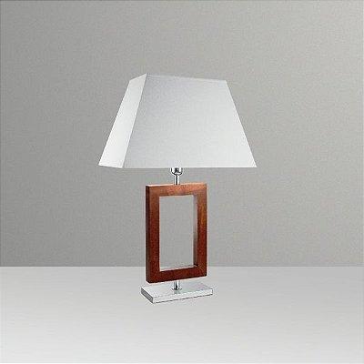 Abajur Golden Art Rústico Contemporâneo Moderno Retangular Madeira Cúpula 110v 220v Bivolt 66cm Altura (H) E-27 M634-MA Quartos Salas