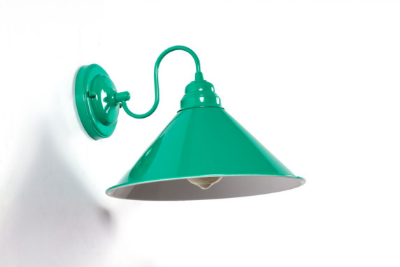 Arandela Golden Art Bacio Vintage Cupula Cone Metal 30x12cm 1x Lamp. E27 110v 220v Bivolt P319-412 Quartos Balcões