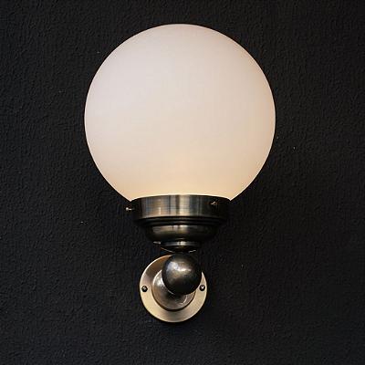 Arandela Golden Art Fera Vintage Esfera Vidro Fosco Metal 47x43cm 1x Lamp. E27 110v 220v Bivolt P762 Hall Entradas