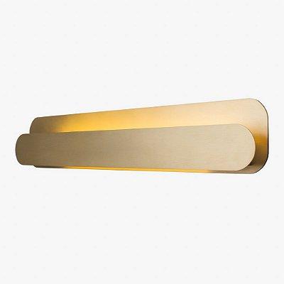 Arandela Golden Art Barra Linear 80cm para Lamp. T8 Led Contemporanea