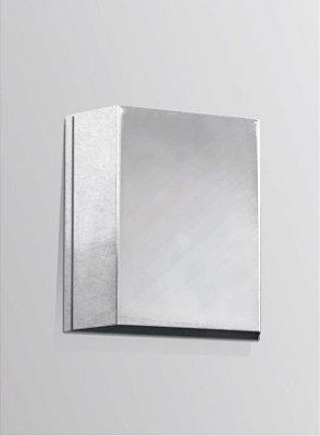 Arandela Golden Art Amb. Interno Metal Cromo Balizador Luz Indireta 12x12 G9 P310 Entradas Salas