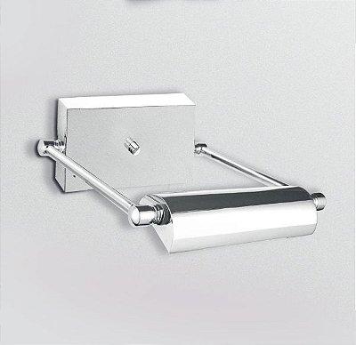 Arandela Golden Art Para Espelho Quadro Amb. Interno Canoa Metal Cromo 16cm Halógena P902 Banheiros Salas