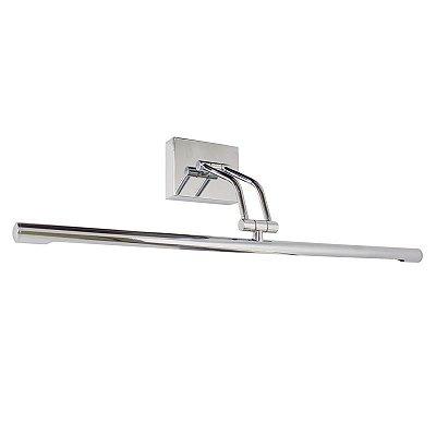 Arandela Golden Art Para Espelho Quadro Amb. Interno Tubo Metal Cromo Calha Slim 60cm Led P379-A-60 Banheiros Salas