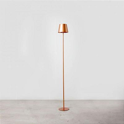 Coluna Golden Art Didi Linear Contemporâneo Metal Cobre 155x20cm 1x Lamp. E27 110v 220v Bivolt C903 Sala Estar Quartos