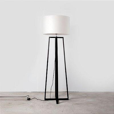 Coluna Golden Art Quadrada Madeira Linear Cupula Tecido 165x50cm 1x Lamp. E27 110v 220v Bivolt C758 Sala Estar Quartos