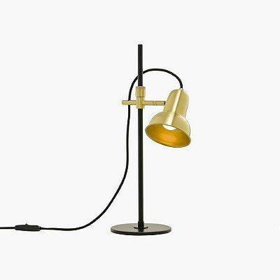 Luminária Mesa Golden Art Escriba Com Articulação Metal Dourado 47x47cm 1x E27 110v 220v Bivolt M1810-1 Mesas Escritórios Home Office