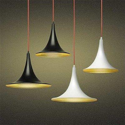 Pendente Golden Art Metal Cores Personalizadas Contemporâneo Cabo PP Regulável Tom Dixon 35x26 Mistt E-27 T900-35 Quartos Salas