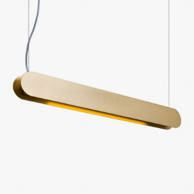 Pendente Golden Art Barra Suspenso Contemporãneo 80cm para Lamp. T8 Led.