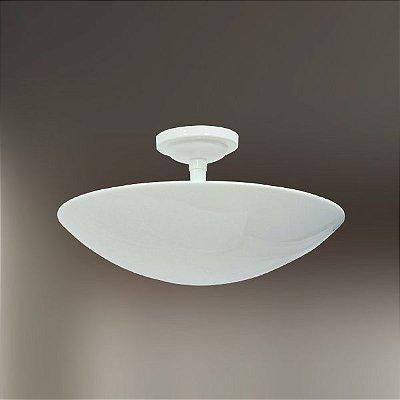 Plafon Golden Art Sobrepor Oval Branco Metal Ø35 E-27 T289-35 Sala Estar Cozinhas