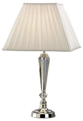 Abajur Mantra Co  2888 BELINA Cristal Contemporaneo Cupula Clara   1 Lamp  E27 BIVOLT c 35cm x a 60cm Mesas e Salas