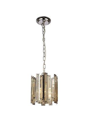 Pendente Mantra 30523 MILANO COGNAC Cristal Lapidado   1  Lampada  E27 BIVOLT D-20cm H-23cm Salas e Entradas