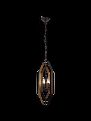 Lustre Mantra Co 30529 ORBITA BRONZE OLEADO OURO VelhoSuspenso  3 Lamp E14 BIVOLT D-36cm H-64cm Salas e Hall