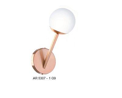 Arandela Old Artisan Iluminação AR5307  Redonda Esfera Bola De Vidro Moderna Cobre Cores (1 - G9) A-290XL-120XP-200