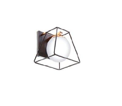 Arandela Old Artisan Iluminação AR5284 Aramada Triangular Redondo Esfera Bola De Vidro Moderno Cobre Preto Cores (1 - G9) A-210XL-200XP-220