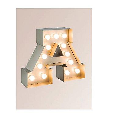 Abajur LUMINÁRIA DE MESA Klaxon Iluminação MARQUEE  x 50 cm x 15 cm