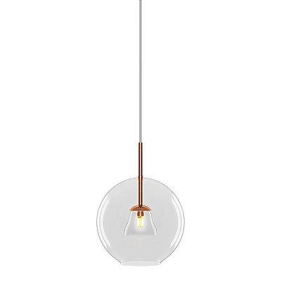 PENDENTE Klaxon Iluminação SOHO Vertical Esfera Bola de Vidro Moderna 30 cm x 40 cm x 30 cm