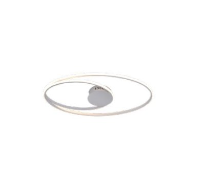 PLAFON QUALITY NEWLINE PL1343BR METAL Aros Redondo esfera moderno 69X38X5CM LED 56W BRANCO