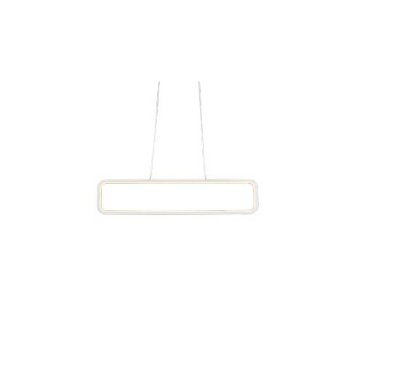 PENDENTE QUALITY NEWLINE QPD1320BR LED Retangular Moderno Minimalista 70 x A15 cm  34W 3000K BRANCO