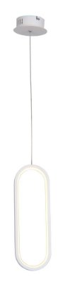 PENDENTE QUALITY NEWLINE QPD1321BR LED Oval Moderno Minimalista 35 x A12 cm 16W 3000K BRANCO