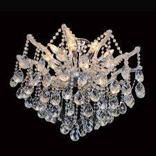 PLAFON Bella Ilumy AR002C TEIA Aranha Cristal Cromado Transparente 95CMX95CMX70CM  12XE14