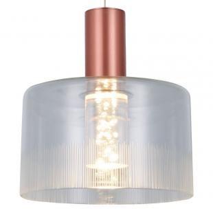 PENDENTE Bella Ilumy BB005E POTI Pendurado Redondo Cupula de Vidro ROSE Transparente 20cm x 22cm  1 x LED 5W