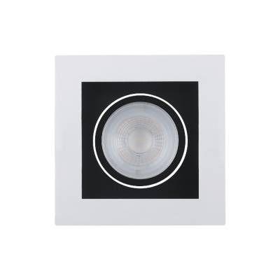 SPOT Bella Ilumy EMBUTIDO POLI DL128PT 5W LED A5,3xL10,2XC10,2 Preto Branco