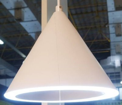 PENDENTE Bella Ilumy FO007W HAT Branco Industrial Triangular Borda Led 20cm x 17cm  1 x LED 11W 6000k BIVOLT