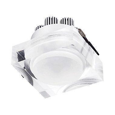 SPOT Bella Ilumy EMBUTIDO Transparente Quadrado LG8545 4CM H MAT 1XLED 3W