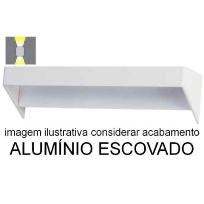 ARANDELA Bella Ilumy LZ017A GO LED Aluminio Escovado Moderna 6W