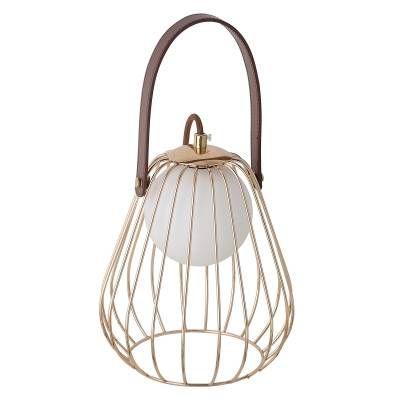 ABAJUR Bella Ilumy LAMP ML001G Aramado Dourado Branco Marrom18cmx22cm  1xG9 BIVOLT FRENCH
