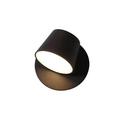 ARANDELA Bella Ilumy ML006B MEERA Preto Redonda Minimalista 12cm x 12cm  1 x LED 6W BIVOLT
