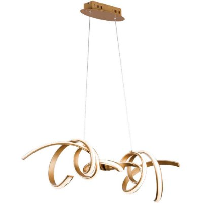 PENDENTE Bella Ilumy RE006 FLUIRE Hastes de Led Moderno DOURADO 100cm x 25cm x 30cm  LED 45 W