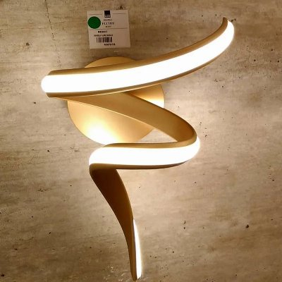 ARANDELA Bella Ilumy RE007 FLUIRE Hastes de Led Moderno DOURADO 20cm x 30cm x 40cm  LED 12 W