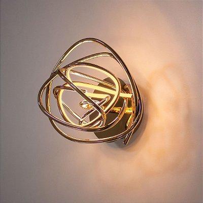 ARANDELA Bella Ilumy WD018 NINHO Aros Moderno Em Led 23cm ROSE GOLD 1 x LED 12W