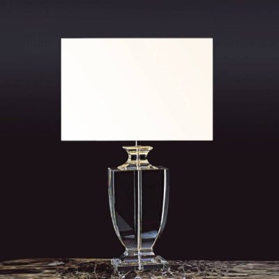 BASE P/ ABAJUR Bella Ilumy XL1121 CLASSIC Pilar Cristal Cromado Transparente 43CM H 1XE27-